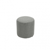 Pouf rond Tweed - gris